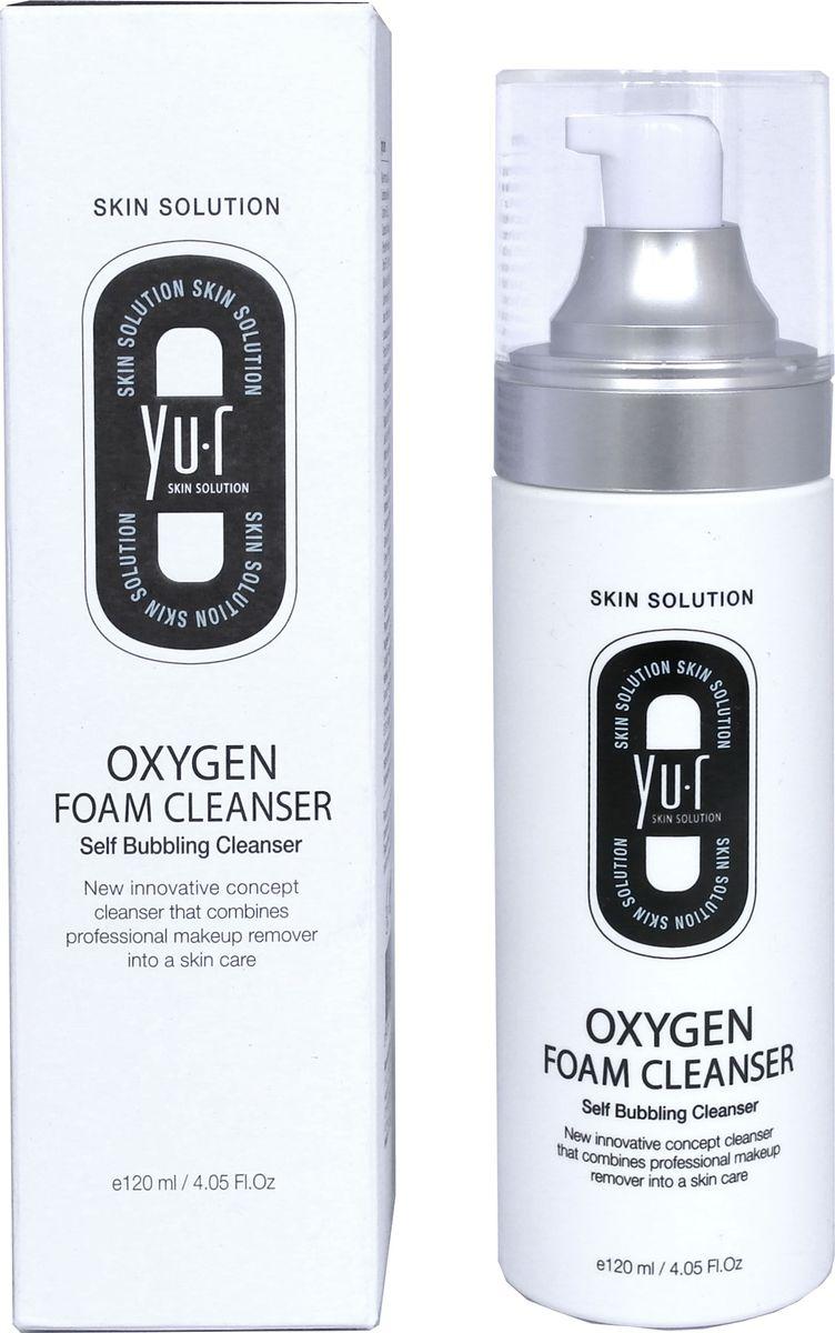 Yu.R, Кислородная пенка для умывания, Oxygen Foam Cleanser, 120 мл babyline детская пенка для умывания лица рук и тела 250 мл