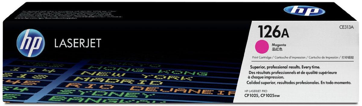 HP CE313A (126A), Magenta тонер-картридж для LaserJet Pro M275/CP1025/M175CE313AТонер-картридж HP CE313A (126A) позволяет печатать текстовые документы и маркетинговые материалы. Обеспечивает фотографическое качество графики и изображений. Неизменно профессиональный результат на широком ассортименте бумаги для лазерной печати.Высокая производительность и высококачественные результаты независимо от условий эксплуатации. Используя картриджи, специально разработанные для вашего принтера, вы сможете избежать необходимости повторной печати и дорогостоящих простоев, а также снизить количество отработанных расходных материалов.