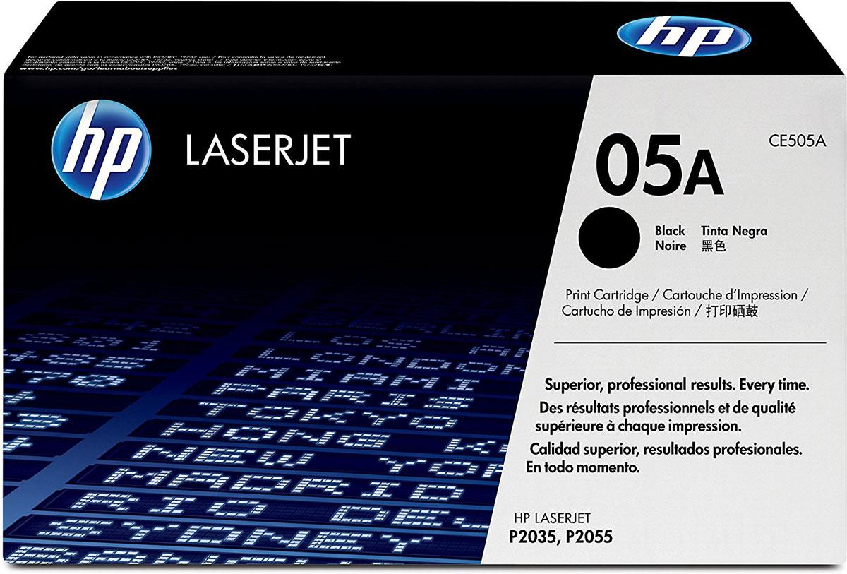 HP CE505A (05A), Black тонер-картридж для LaserJet P2055/P2035CE505AКартриджи HP CE505A (05A) обеспечивает бесперебойную печать. Оригинальные картриджи HP с оригинальным тонером HP гарантируют качественное выполнение задач печати в офисе. Добейтесь превосходного качества черно-белой печати для повседневных нужд. Это недорогое и производительное решение отлично подойдет для печати отчетов, счетов, таблиц и других повседневных документов.Конструкция оригинальных картриджей LaserJet и уникальная формула тонера HP гарантируют неизменно высокое качество печати на протяжении всего срока службы картриджа. Конструкция расходных материалов обеспечивает стабильные показатели ресурса при смене картриджа.