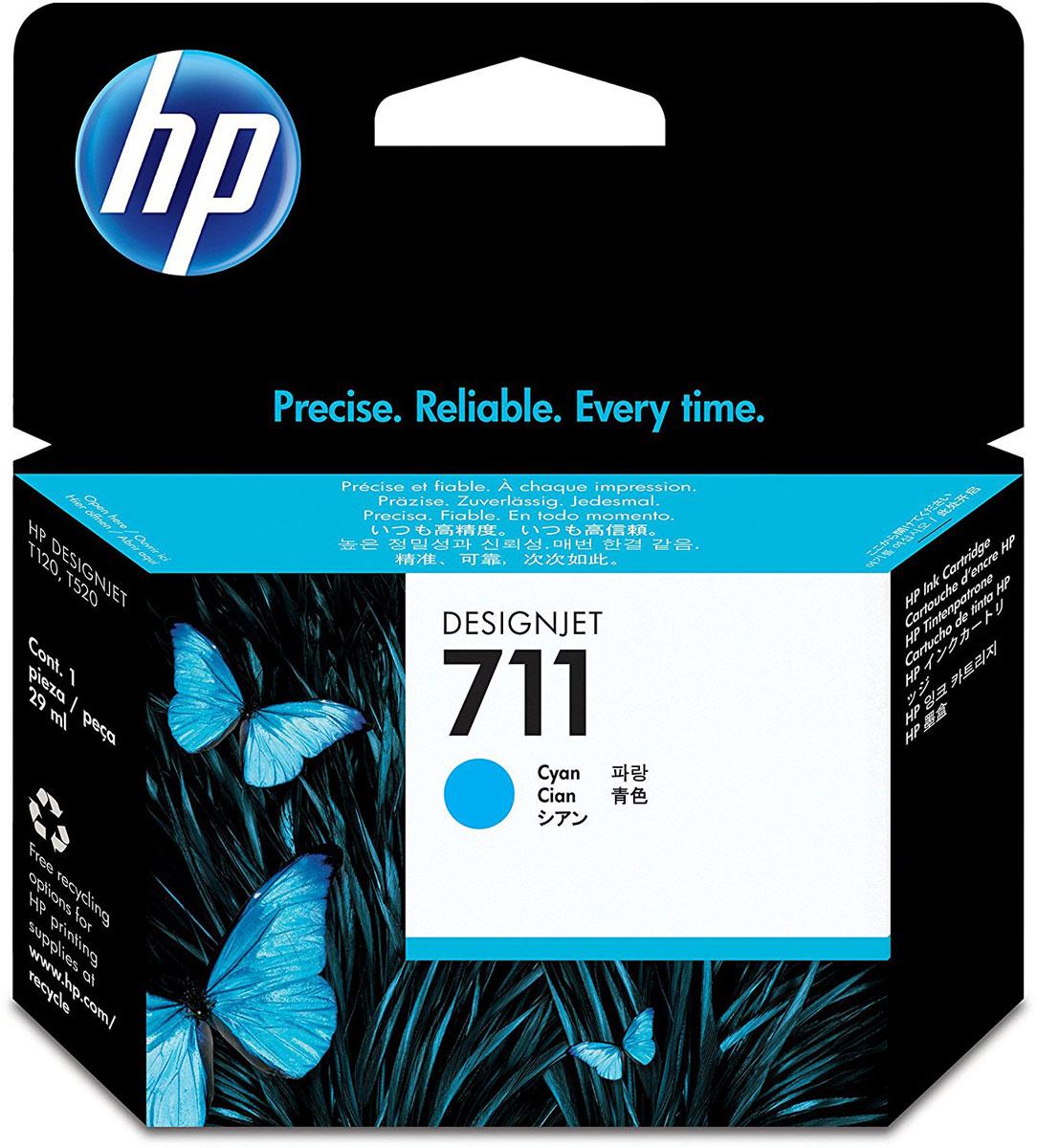 HP CZ130A (711), Cyan картридж для T120/T520CZ130AКартридж HP 711 емкостью 29 мл с голубыми чернилами обеспечивает великолепную печать. Насыщенный цвет и четкие линии в сочетании с быстрым высыханием и стойкостью фотографий к смазыванию. Оригинальные чернила HP разработаны и протестированы вместе с принтерами для обеспечения стабильных результатов.Пробы и ошибки отнимают время. Для получения качества, достойного вас, используйте оригинальные расходные материалы HP, которые в сочетании с принтером работают как оптимизированная система печати для обеспечения точных линий, четких деталей и богатой цветовой гаммы.Представьте, какое влияние вы сможете оказать на своих слушателей, если в вашем арсенале будут четкие и легкочитаемые чертежи и цветные презентации. Оригинальные чернила HP — это уникальная комбинация качества и надежности; чернила HP — это четкость линий, быстрое высыхание и стойкость к смазыванию.