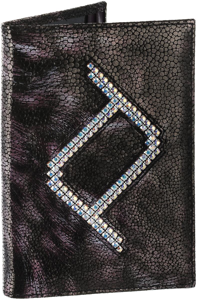 Обложка для паспорта женская Elisir France, цвет: темно-коричневый, сиреневый. EL-NK270-OP0031-000 рюкзак для мальчика elisir цвет черный de dv009 gs0007 000