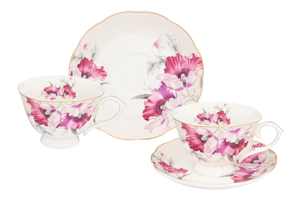 Набор чайный Elan Gallery Серебристый мак, 4 предмета плетение из бумажных веревочек набор 3 солнечный мак