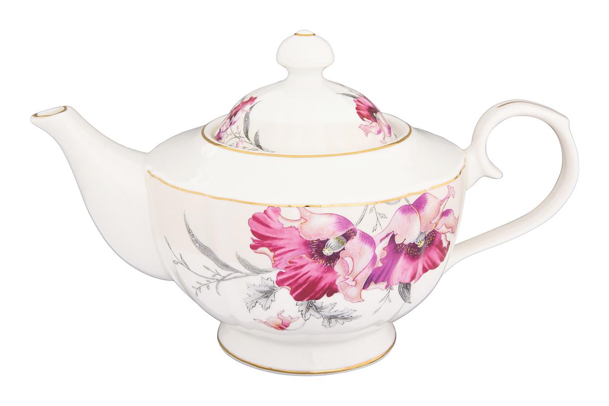 Чайник заварочный Elan Gallery Серебристый мак, 1,1 л740286Изысканный заварочный чайник украсит сервировку стола к чаепитию. Благодаря красивому утонченному дизайну и качеству исполнения он станет хорошим подарком друзьям и близким. Изделие в подарочной упаковке.Объем чайника: 1100 мл.