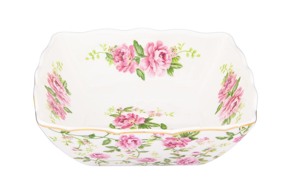 Салатник Elan Gallery Плетистая роза, 600 мл740368Великолепныйсалатник Elan Gallery Плетистая роза, изготовленный из высококачественного фарфора, прекрасно подойдет для подачи различных блюд: закусок, салатов или фруктов. Такой салатник украсит ваш праздничный или обеденный стол, а оригинальное исполнение понравится любой хозяйке. Не рекомендуется применять абразивные моющие средства. Не использовать в микроволновой печи.Размер салатника (по верхнему краю): 15,5 см.Высота салатника: 5,5 см.