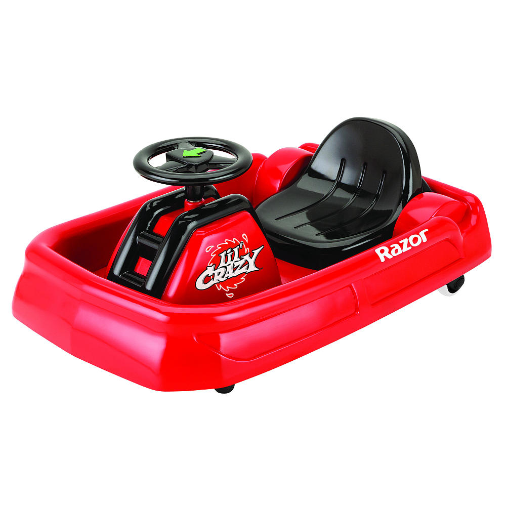 Электросамокат детский Razor Lil Crazy, цвет: красный, черный041201Детский электросамокат Razor Lil Crazy предназначен для самых маленьких экстрималов, которые только готовы освоить дрифт, скорость, вращения и движение боком. Этот карт специально разработан для юных гонщиков. Он имеет адаптивное управление и небольшую скорость в 3,5 км/час.Особенности:- Запас хода на 40 минут.- Адаптированный мотор для маленьких райдеров.- АКБ свинцово-кислотные на 6 В.- Педаль активации мотора.- Мягкая резина для комфортной езды.- Помогает стимулировать и развивать координацию.Возраст: от 2 лет.Для детей ростом: от 80 до 120 см.Максимальная скорость: 3,5 км/час.Максимальная нагрузка: 20 кг.Размер изделия (ДхШ): 69 х 47 см.Требуется частичная сборка.