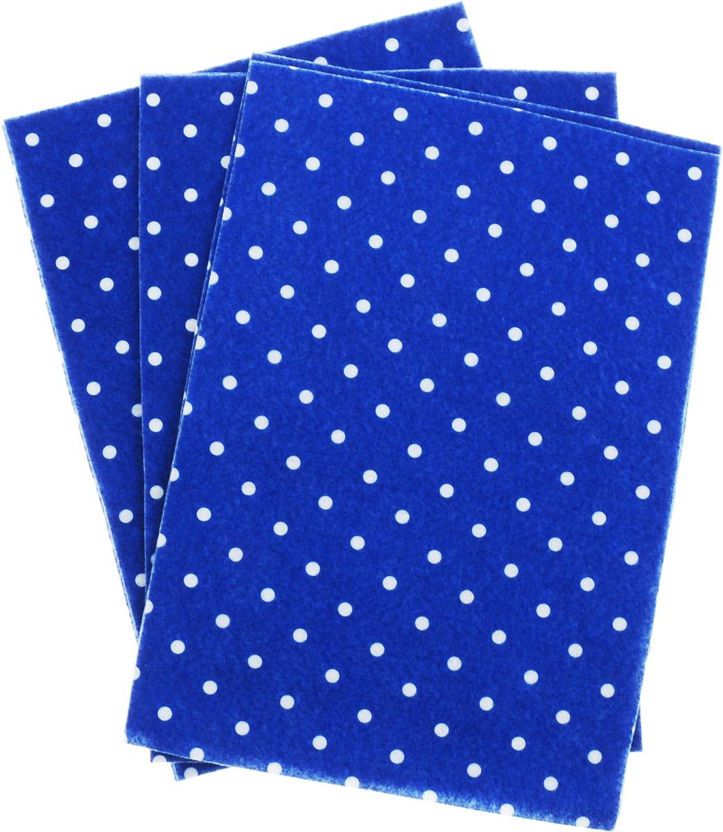 Фетр листовой для творчества Астра Горох, 20 х 30 см, 10 шт7712689_васильковый, белыйМягкий фетр Астра Горох, изготовленный из100% полиэстера, используется для отделки готовых работ в разных техниках. Основное применение тонкого фетра - создание аппликаций, набивных игрушек, подушек, декора, бижутерии. Вы также можете его использовать для внутренней отделки шкатулки или подарочной коробки. Фетр напоминает бумагу, его также можно, резать, шить, клеить. Листы не лохматятся в месте разреза, что упрощает обработку краев. Материал хорошо приклеивается практически на любые поверхности, и не имеет лица и изнанки.В наборе - 10 листов.Размер листа: 20 х 30 см.Толщина листа: 1 мм.