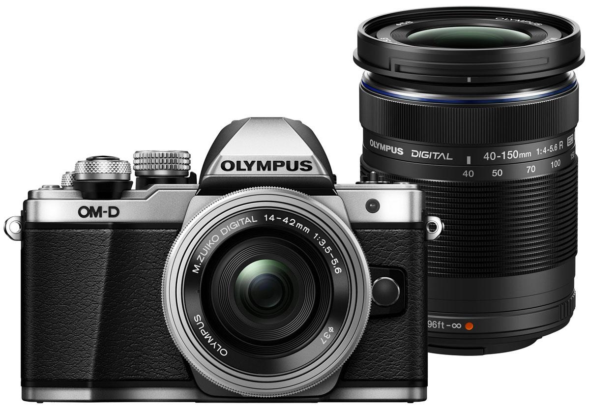 Olympus OM-D E-M10 Mark II Kit 14-42 EZ + 40-150 R, Silver цифровая фотокамера