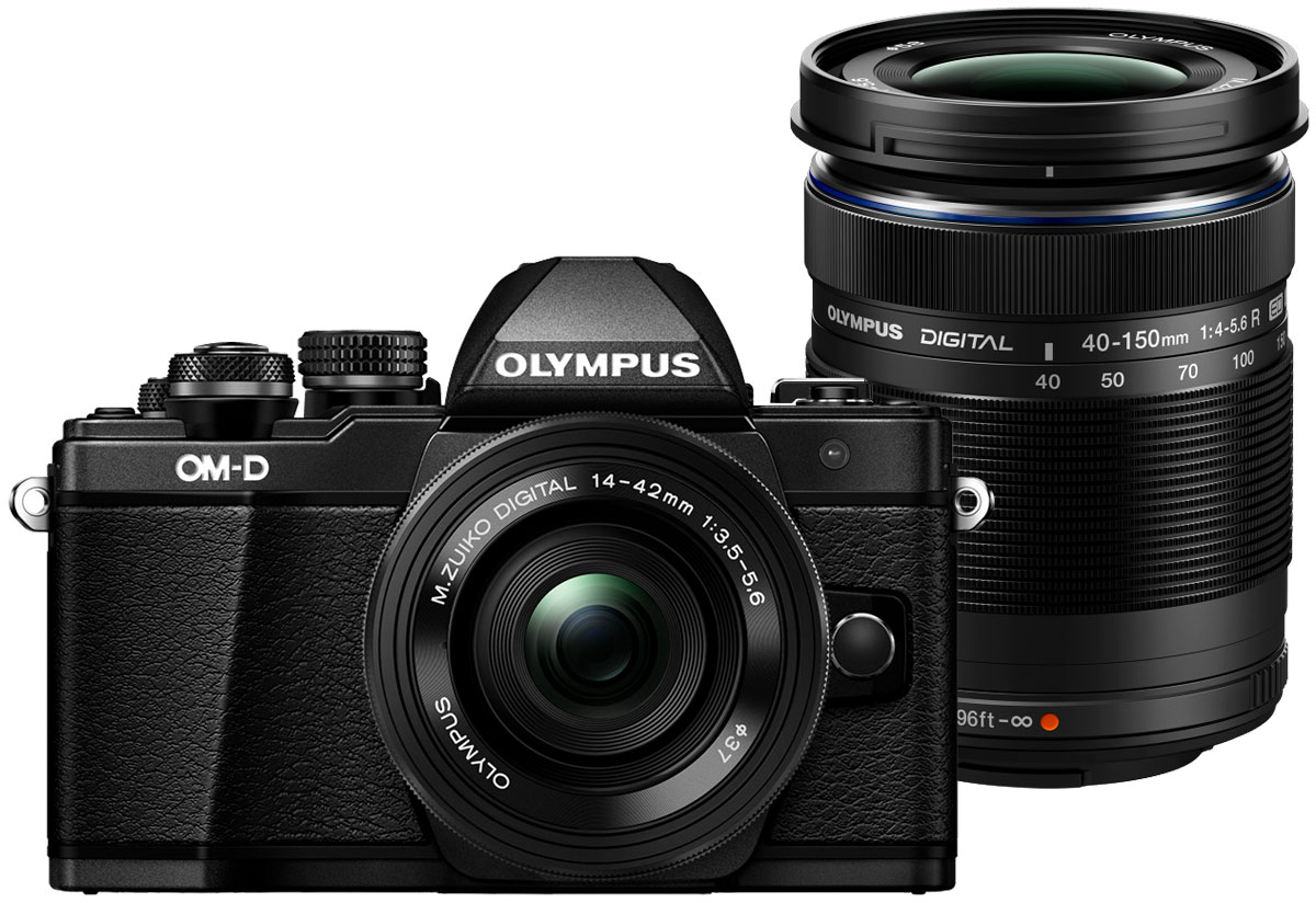 Olympus OM-D E-M10 Mark II Kit 14-42 EZ + 40-150 R, Black цифровая фотокамера