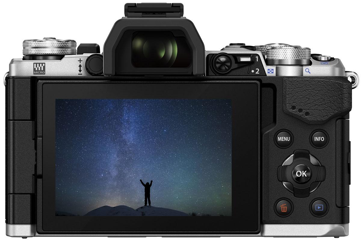 Olympus OM-D E-M5 Mark II Kit 12-50, Silverцифровая фотокамера