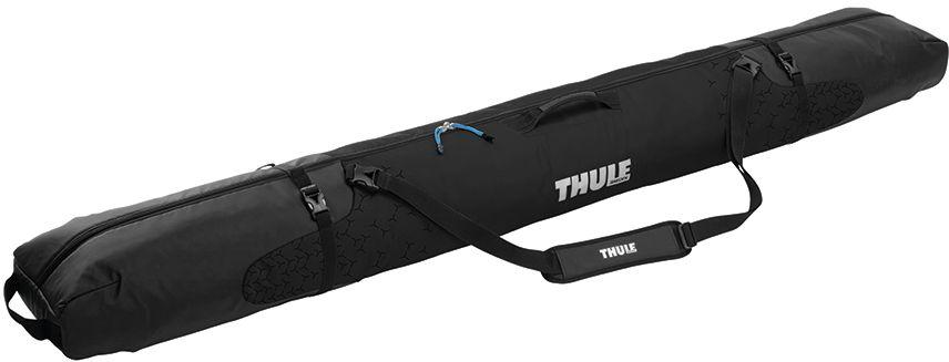 Чехол для горных лыж Thule RoundTrip Single Ski, цвет: черный, для одной пары205201Прочная водонепроницаемая брезентовая ткань и утолщенная подкладка защищают переднюю и заднюю части лыж.Мягкие рукава с затяжками натягиваются на края сноуборда для улучшенной защиты, а также защищают верхнюю и нижнюю одежду от острых краев сноуборда.Внутреннее отделение разделяет и защищает лыжные палки от лыж и других вещей. Внешние стяжки защищают вещи от перемещения в сумке. Съемный мягкий наплечный ремень и удобно расположенные ручки позволяют легко переносить сумку. Молнии можно закрыть на замок для защиты от кражи (замок продается отдельно).Подходит для одной пары горных лыж или двух пар беговых лыж длиной до 195см вместе с лыжными палками.