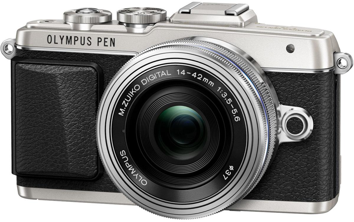 Olympus PEN E-PL7 Kit 14-42 EZ, Silver цифровая фотокамераV205073SE001Камера Olympus PEN E-PL7 сделана из премиального металла с тиснением под кожу, что подчеркивает вашу утонченность. Она отлично помещается в сумочку и сочетается с аксессуарами. Каждая деталь (дизайн привлекательного ремешка, расположение управляющих дисков) была создана для того, чтобы вы выглядели элегантно все время.Высочайшее качество снимков зависит от высококачественного объектива, мощного сенсора и графического процессора. К счастью, цифровая фотокамера Olympus E-PL7 оснащена всем перечисленным. В результате вы получаете высокое разрешение, отличную цветопередачу, низкий уровень шума и широкий динамический диапазон.С помощью модуля Wi-Fi вы можете передать их на мобильное устройство и выложить в блоге, а также делиться с друзьями.Камерой очень легко управлять - например, LCD-дисплей откидывается вниз, чтобы вы были уверены, что руки не попадут в кадр при съемке. Таким образом можно делать великолепные селфи.Данная модель позволит вам самовыражаться с помощью 14 Художественных фильтров и 9 эффектов. Особенно интересны новые фильтры Винтаж и Partial Colour. Они придают моим снимкам особый шарм.