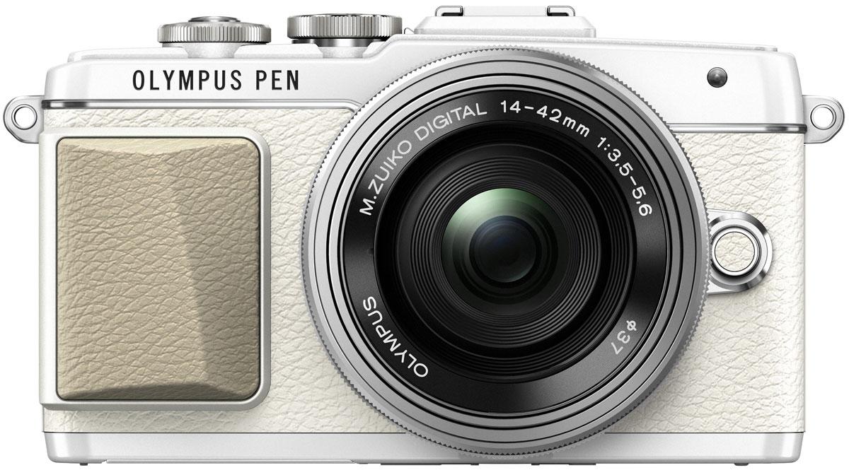Olympus PEN E-PL7 Kit 14-42 EZ, White цифровая фотокамераV205073WE001Камера Olympus PEN E-PL7 сделана из премиального металла с тиснением под кожу, что подчеркивает вашу утонченность. Она отлично помещается в сумочку и сочетается с аксессуарами. Каждая деталь (дизайн привлекательного ремешка, расположение управляющих дисков) была создана для того, чтобы вы выглядели элегантно все время.Высочайшее качество снимков зависит от высококачественного объектива, мощного сенсора и графического процессора. К счастью, цифровая фотокамера Olympus E-PL7 оснащена всем перечисленным. В результате вы получаете высокое разрешение, отличную цветопередачу, низкий уровень шума и широкий динамический диапазон.С помощью модуля Wi-Fi вы можете передать их на мобильное устройство и выложить в блоге, а также делиться с друзьями.Камерой очень легко управлять - например, LCD-дисплей откидывается вниз, чтобы вы были уверены, что руки не попадут в кадр при съемке. Таким образом можно делать великолепные селфи.Данная модель позволит вам самовыражаться с помощью 14 Художественных фильтров и 9 эффектов. Особенно интересны новые фильтры Винтаж и Partial Colour. Они придают моим снимкам особый шарм.