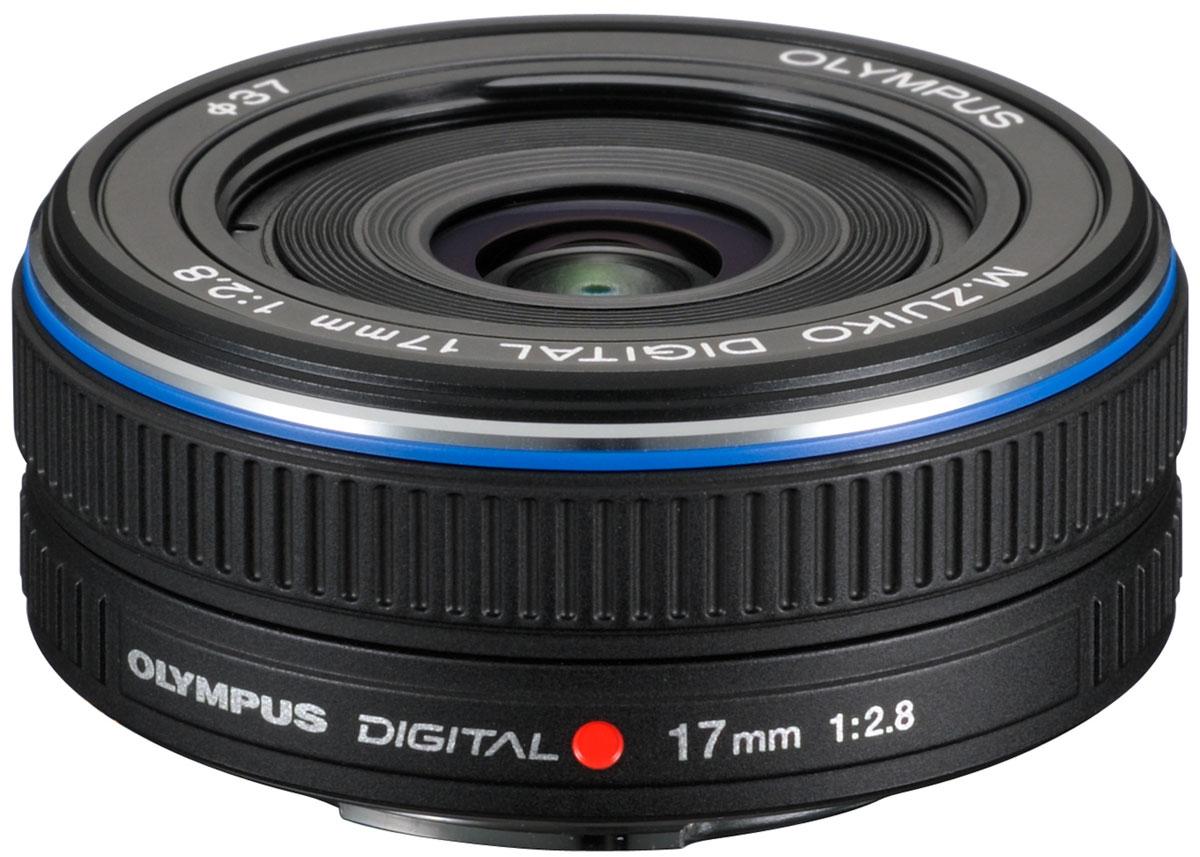 Olympus M.Zuiko Digital 17mm 1:2.8 Pancake, Black объектив - Фотоаксессуары