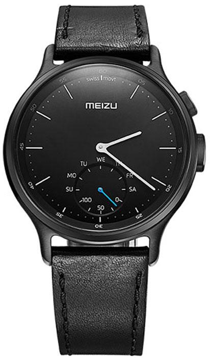 Meizu Mix Leather, Black смарт-часыMZWA1S-L-BKЛёгкие умные часы с кварцевым механизмом Meizu Mix и ремешком из крупно-зернистой итальянской кожи.Корпус, циферблат и стрелки умных кварцевых часов Meizu Mix изготовлены из ювелирной стали. Она устойчива к коррозии, высоким температурам и износу. Прекрасная комбинация надёжных материалов и утончённого дизайна.Элегантное сапфировое стекло. Твёрдость сапфирового стекла равна 9 и уступает лишь алмазу. Такое стекло выдерживает царапины, удары и высокие температуры. Вы не будете разочарованы.В умных часах Meizu Mix установлен швейцарский часовой механизм, известный благодаря своей долгой истории и мастерству изготовления. В часах сочетаются функциональность умных часов и продолжительный срок службы с традиционной точностью и надёжностью.Легкие умные часы Meizu плотно сидят на запястье. Теперь вы больше не пропустите входящий звонок, SMS или сообщение в мессенджере. В часах возможно настроить будильник и напоминания.Высокоточный сенсор отслеживает ваши передвижения и подсчитывает потраченное количество калорий и показывает ежедневную физическую активность. Если вы переключились на малый циферблат, с помощью секундной стрелки вы можете выбрать информацию для отображения, например, физическая активность за неделю. Переключаться между режимами очень просто.Не можете найти свой телефон? Нажав на кнопку на часах, вы можете включить проигрывание рингтона на смартфоне.В часах Meizu Mix установлена батарея способная работать до 240 дней, поэтому вам больше не будут надоедать ежедневные зарядки аккумулятора. Часы выдерживают погружение в воду на глубину до 30 метров, но брать их с собой в сауну не разрешается.