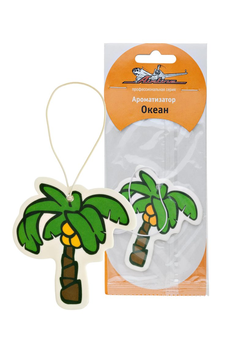 Ароматизатор автомобильный Airline Пальма, подвесной, океанAF-C02-OCАроматизатор Airline Пальма из плотного картона в форме тропической пальмы станет отличным вариантом для того, чтобы доступно и длительно поддерживать приятный аромат в салоне автомобиля. Основа изделия пропитана специальной жидкостью, которая надолго сохраняет свои ароматизирующие свойства. Запах ароматизатора — океан.