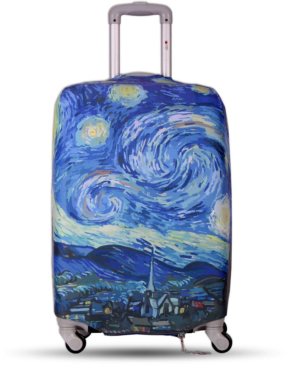 Чехол для чемодана Fancy Armor Travel Suit Eco. Звездная ночь, размер M/L (52-65 см) чехлы для чемоданов fancy armor чехол для чемодана модель travel suit eco circles