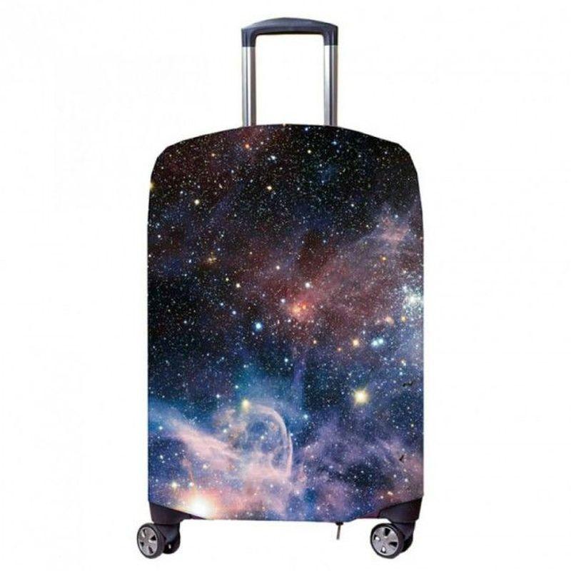 Чехол для чемодана Fancy Armor Travel Suit Eco. Космос, размер M/L (52-65 см) чехлы для чемоданов fancy armor чехол для чемодана модель travel suit eco circles