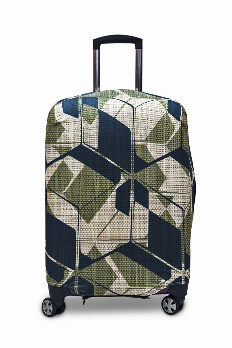 Чехол для чемодана Fancy Armor Travel Suit Eco. Милитари, размер M/L (52-65 см)FTS_ECO_039Чехол Fancy Armor Travel Suit Eco. Милитари предназначен для чемоданов высотой 52-65 см, выполнен из спандекса - легкого, эластичного и стойкого к разрыву материала, плотностью 240 г/см3. Универсальный чехол для большого чемодана защищает чемодан и вещи от грязи и повреждений, заменяет пленку в аэропорту и позволяет сэкономить время и деньги на упаковке багажа, а также поможет безошибочно отличить свой чемодан. Запатентованная выкройка обеспечивает идеальную посадку, а высокое качество пошива и используемых материалов гарантирует долгую службу чехла. Обработанные силиконовой резинкой вырезы специальной формы обеспечивают удобный доступ ко всем ручкам чемодана.