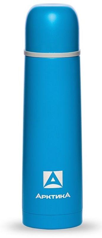 Термос Арктика, с узким горлом, цвет: синий, 500 мл термос miessa цвет белый синий коричневый 500 мл