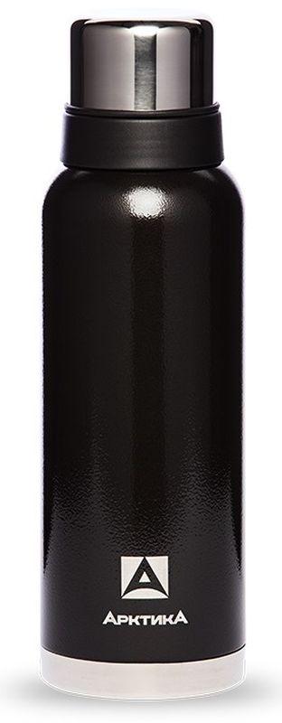 Термос Арктика, с узким горлом, цвет: черный, 900 млТермос 106-900ч АрктикаТермос Арктика изготовлен из пищевой нержавеющей стали. Он может держать температуру до 28 часов.Данный термос является компактным, мобильным, и простым в использовании. Имеет в комплекте кружку, а также имеет крышку, которая может служить дополнительной емкостью для напитков.Объем термоса: 900 мл.Диаметр горлышка: 3,7 см.