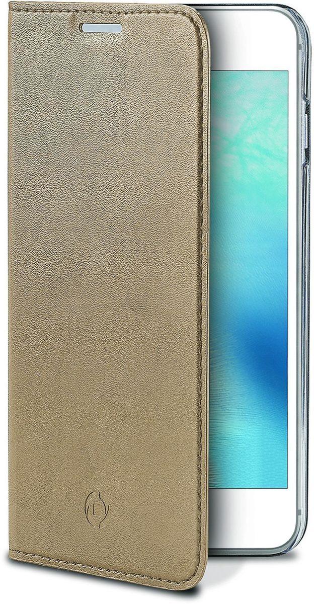 Celly Air Case чехол для Apple iPhone 7/8, GoldAIR800GDЧехол-книжка Celly Air Case для Apple iPhone 7 выполнен из высококачественных материалов и практически не увеличивает размер устройства. А благодаря его удобной конструкции все функциональные кнопки и разъемы остаются свободными. Чехол надежно защитит ваш аппарат от царапин и сколов, механических повреждений, а также позволит хранить кредитные карты или визитки в специально отведенном кармашке. Крышка может использоваться как подставка под устройство для удобного просмотра видео.