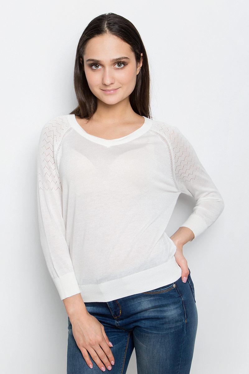 Джемпер женский Baon, цвет: белый. B137007. Размер L (48) кардиган женский baon цвет светло коричневый черный белый b146512 размер l 48