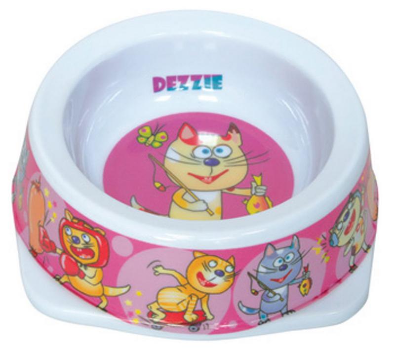 Миска для кошек Dezzie Рыбак, 150 мл миска для кошек разноуровневая dezzie охотник