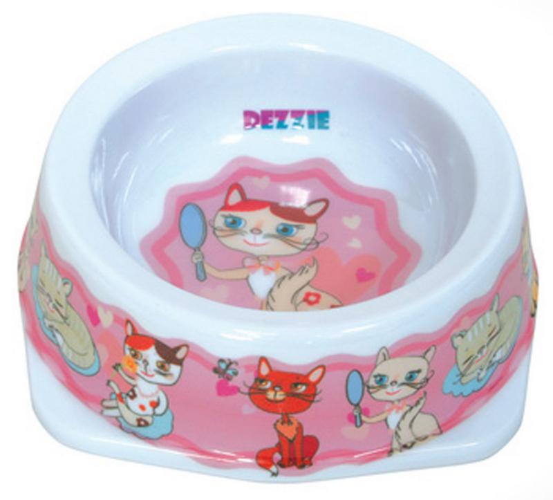 Миска для кошек Dezzie Забава, 300 мл миска для кошек разноуровневая dezzie охотник