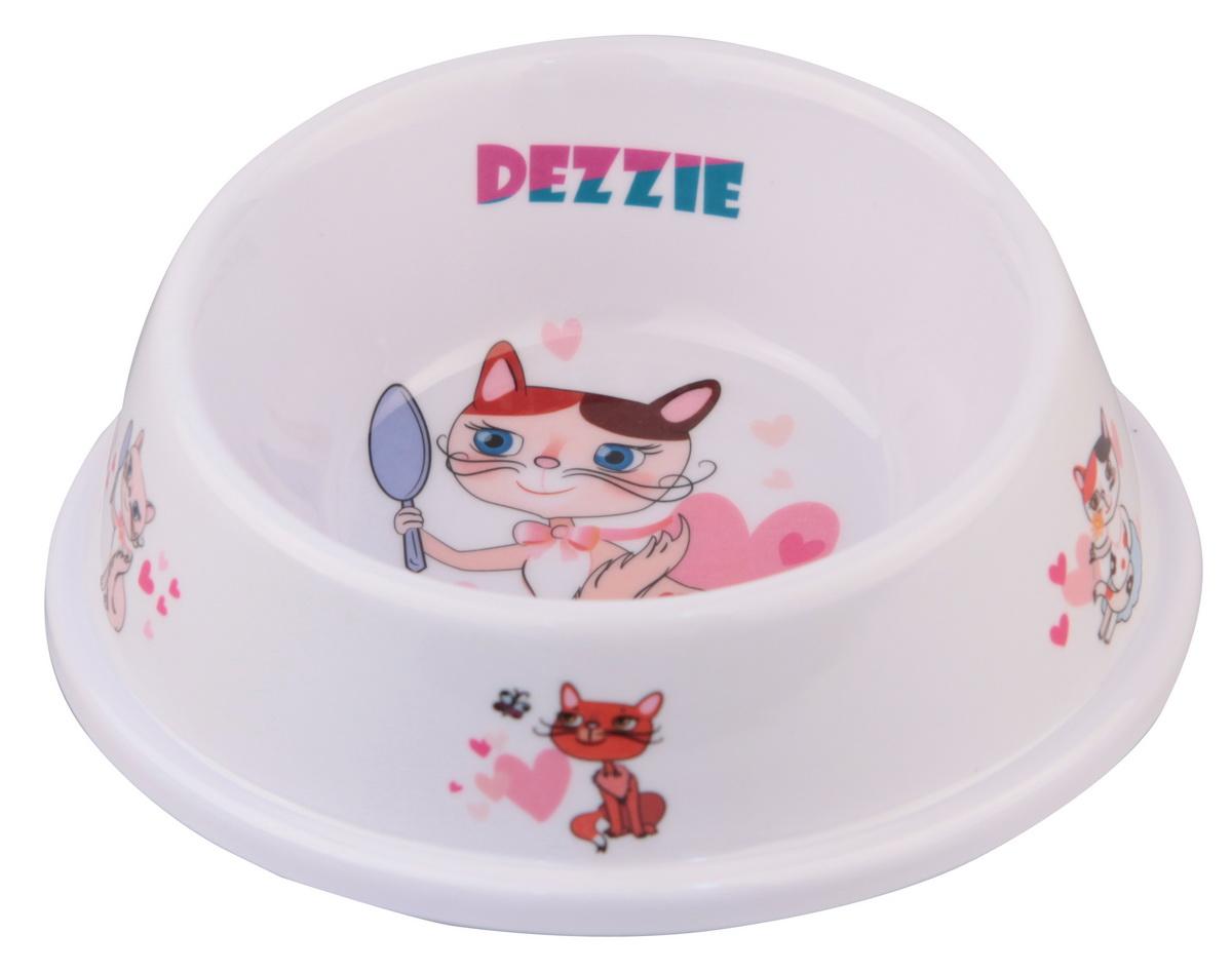 Миска для кошек Dezzie Охотник, разноуровневая, 150 мл миска для кошек разноуровневая dezzie охотник