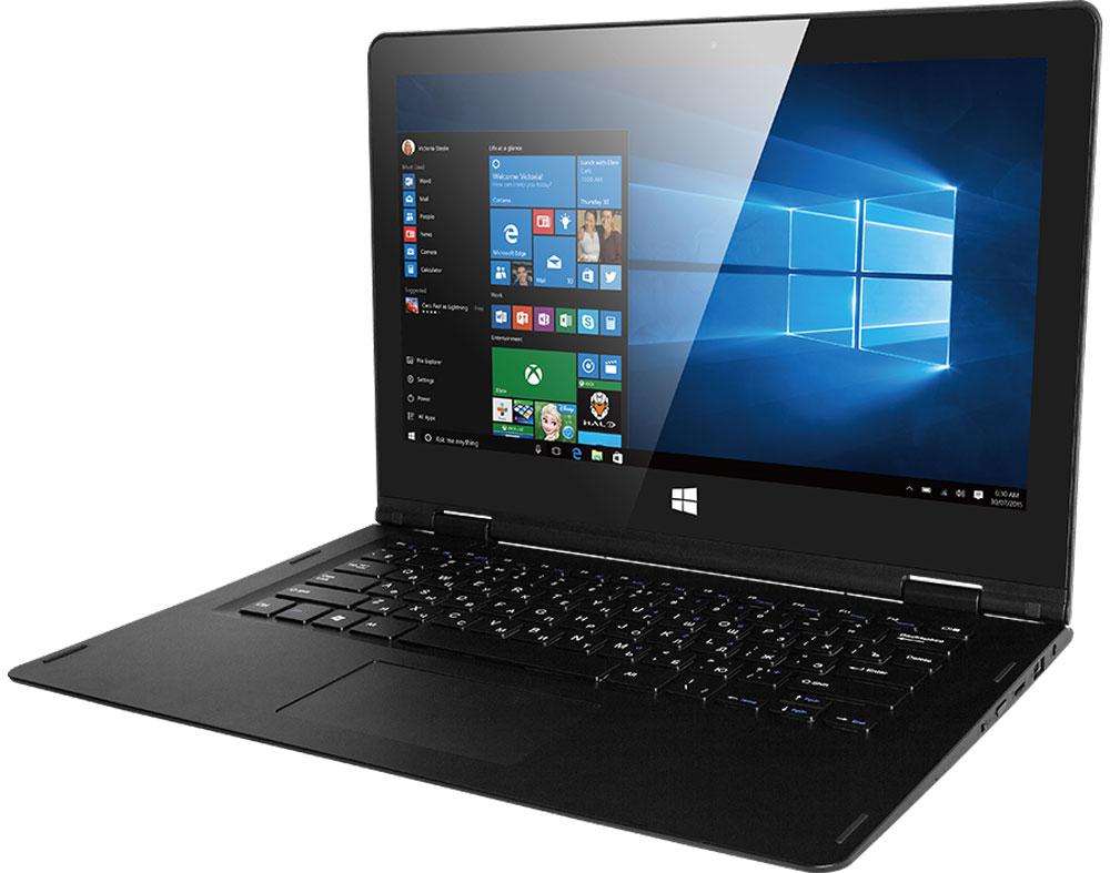 Prestigio Visconte Ecliptica, Dark GrayPNT10130CEDGВыделяйтесь вместе с ноутбуком-трансформером Prestigio Visconte Ecliptica! Необычная конструкция (поворотный механизм на 360 градусов), высококачественный 13,3-дюймовый IPS-дисплей с разрешением матрицы Full НD и сенсорной панелью, высокая производительность и длительность работы от одного заряда делают из этого устройства поистине особенный девайс, который не только подарит великолепный пользовательский опыт, но и станет впечатляющим аксессуаром.С Prestigio Visconte Ecliptica вы приобретаете 2 устройства по цене одного. Наслаждайтесь играми, просмотром контента и серфингом в Интернете в удобном форм-факторе планшета. А если вам нужно поработать - просто подключите клавиатуру! Дисплей вращается на 360 градусов, при этом он крепкий и надежный - вы не будете переживать о целостности устройства.С любыми ежедневными задачами (от поиска информации в Интернете до любимых игр) устройство справляется на ура. Плавность работы даже в требовательных приложениях обеспечивает мощная аппаратная составляющая: Intel Atom Cherry Trail x5-Z8300 с тактовой частотой в 1,44 ГГц и 2 ГБ оперативной памяти.Prestigio предустановили на ноутбук самую современную и популярную операционную систему Windows 10 версии Home. Она сделает работу с ноутбуком более эффективной благодаря грамотной оптимизации. Интуитивно-понятный интерфейс поможет выполнять любые задачи проще, а наивысшая степень защиты среди всех систем семейства Windows позволит не переживать насчет сохранности данных. Приятным бонусом станет 30-дневный доступ к полной версии Office 365.Новинка отлично подойдет для тех, кто проводит много времени за ноутбуком. Время автономной работы - неоспоримое преимущество Prestigio Visconte Ecliptica: до 6,5 часов в режиме интернет-серфинга и до 7,5 часов при просмотре мультимедийного контента благодаря аккумулятору емкостью 10000 мАч.Разработчики модели позаботились о том, чтобы вы могли брать ноутбук с собой, куда бы ни направлялись. Вес всего 