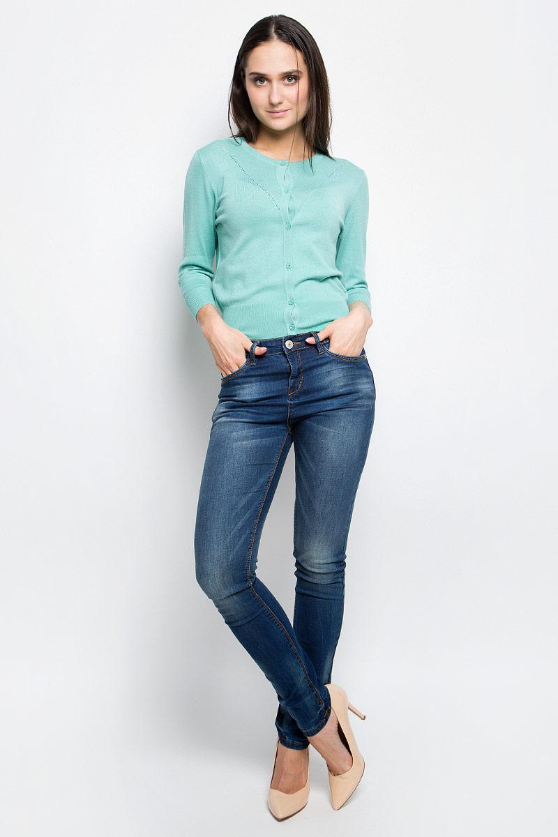 Кардиган женский Baon, цвет: бледно-зеленый. B147003. Размер XL (50) кардиган женский baon цвет черный b147505 black размер xl 50
