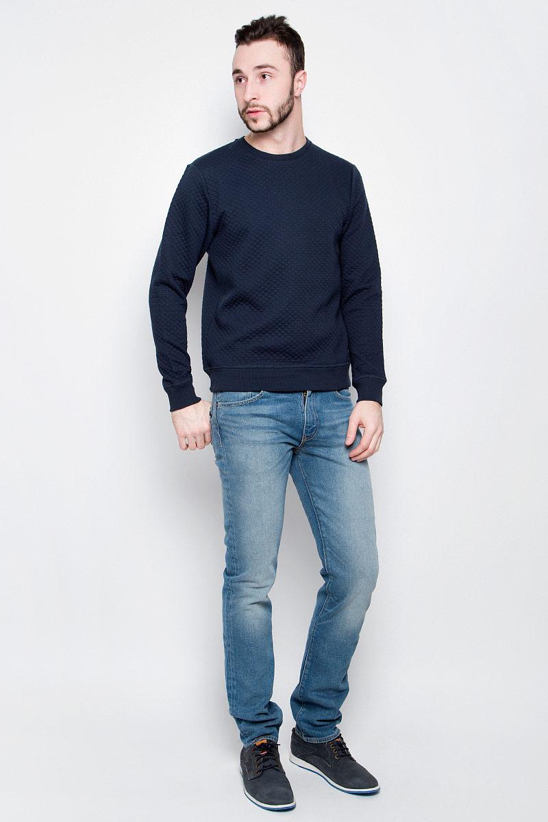 Свитшот мужской Baon, цвет: темно-синий. B617001. Размер L (50) шорты baon р l 50
