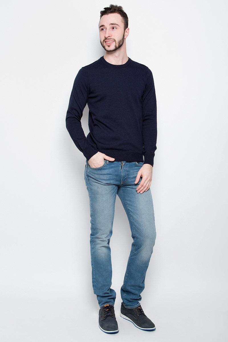 Джемпер мужской Baon, цвет: темно-синий. B637203. Размер L (50) шорты baon р l 50