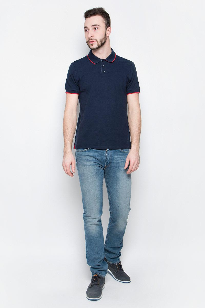 Поло мужское Baon, цвет: темно-синий. B707002. Размер L (50) поло мужское baon цвет белый b707025