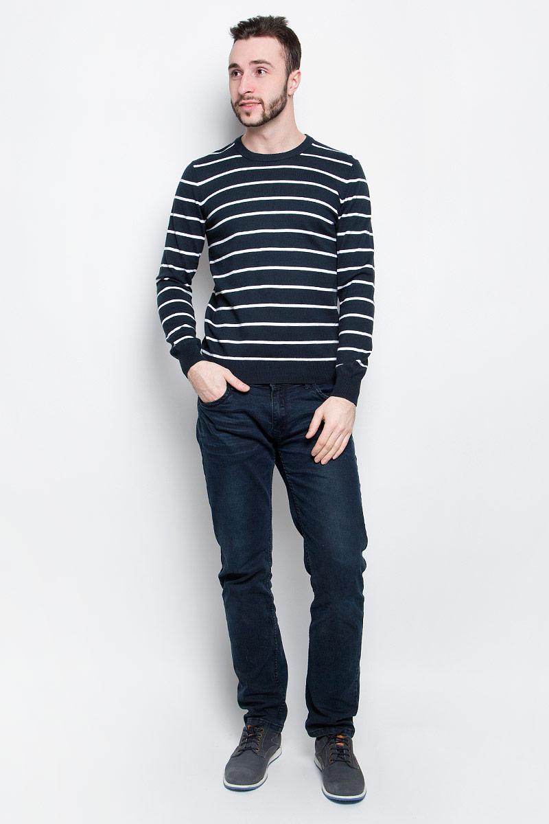 Джемпер мужской Baon, цвет: темно-синий, белый. B637001. Размер L (50) baon весна лето 2017 vogue