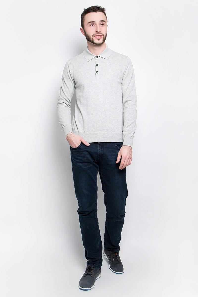 Джемпер мужской Baon, цвет: светло-серый. B637014. Размер XXL (54/56) пуловер мужской karff цвет синий бордовый черный 88004 01 размер xxl 56