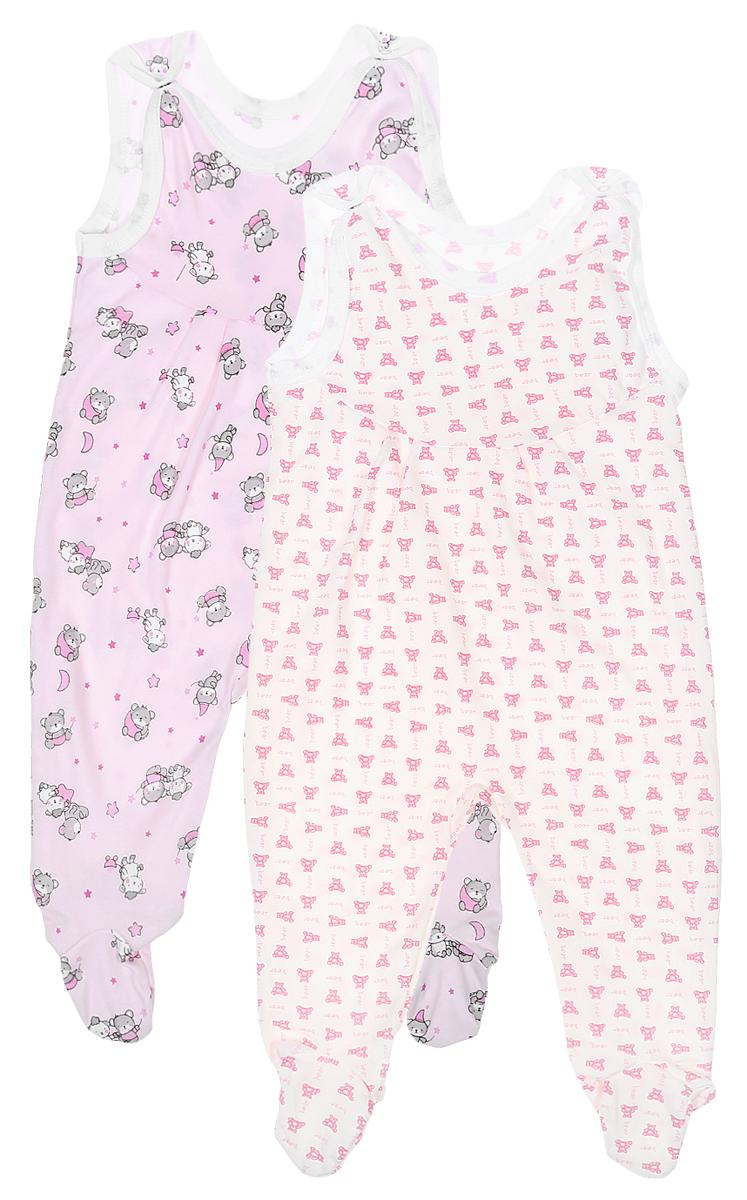 Ползунки с грудкой для девочки Фреш Стайл, цвет: розовый, белый, 2 шт. 33-501д. Размер 8033-501дПолзунки с грудкой для новорожденных Фреш Стайл - важная составляющая бельевого гардероба. Они выполнены из натурального хлопка, очень мягкие, приятные на ощупь и не раздражают нежную кожу ребенка.Комплект состоит из двух изделий: все ползунки оформлены различными интересными принтами. Застежки-кнопки на плечиках облегчают процесс одевания-раздевания. Эластичные швы не препятствуют активным движениям крохи.