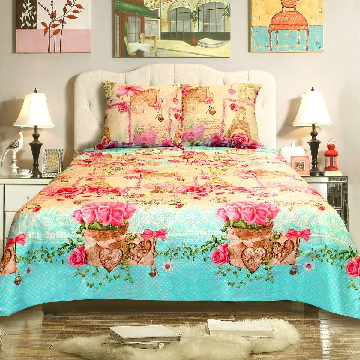Комплект белья Amore Mio Paris, семейный, наволочки 70x70, цвет: зеленый, розовый, молочный78438Комплект постельного белья Amore Mio выполнен из бязи - 100% хлопка. Комплект состоит из двух пододеяльников, простыни и двух наволочек. Постельное белье, оформленное оригинальным принтом, имеет изысканный внешний вид и яркую цветовую гамму. Наволочки застегиваются на клапаны.Постельное белье из бязи практично и долговечно. Материал великолепно отводит влагу, отлично пропускает воздух, не капризен в уходе, легко стирается и гладится. Благодаря такому комплекту постельного белья вы сможете создать атмосферу роскоши и романтики в вашей спальне.