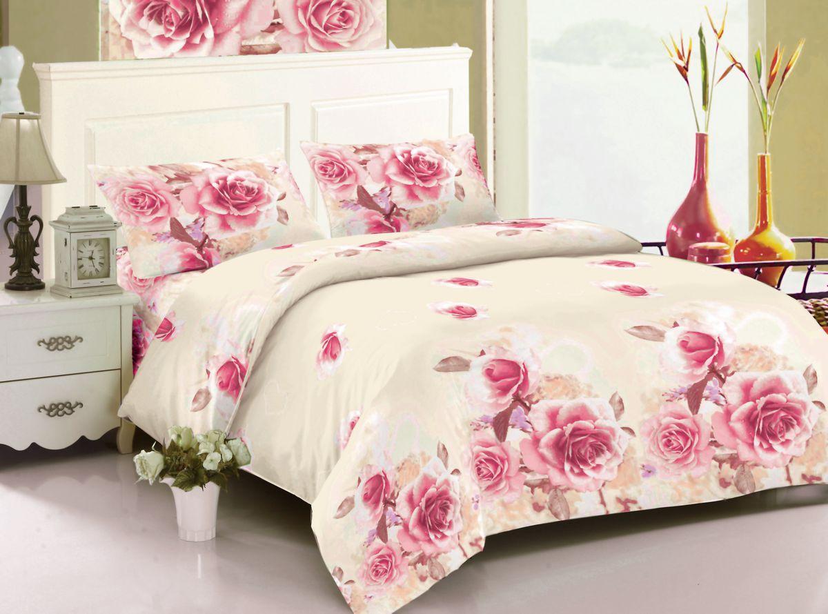 Комплект белья Amore Mio Sophia, 1,5-спальный, наволочки 70x70, цвет: розовый, молочный, бежевый83572Amore Mio – Комфорт и Уют - Каждый день! Amore Mio предлагает оценить соотношению цены и качества коллекции. Разнообразие ярких и современных дизайнов прослужат не один год и всегда будут радовать Вас и Ваших близких сочностью красок и красивым рисунком. Мако-сатина - Свежее решение, для уюта на даче или дома, созданное с любовью для вашего комфорта и отличного настроения! Нано-инновации позволили открыть новую ткань, полученную, в результате высокотехнологического процесса, сочетает в себе широкий спектр отличных потребительских характеристик и невысокой стоимости. Легкая, плотная, мягкая ткань, приятна и практична с эффектом «персиковой кожуры». Отлично стирается, гладится, быстро сохнет. Дисперсное крашение, великолепно передает качество рисунков, и необычайно устойчива к истиранию. Пр
