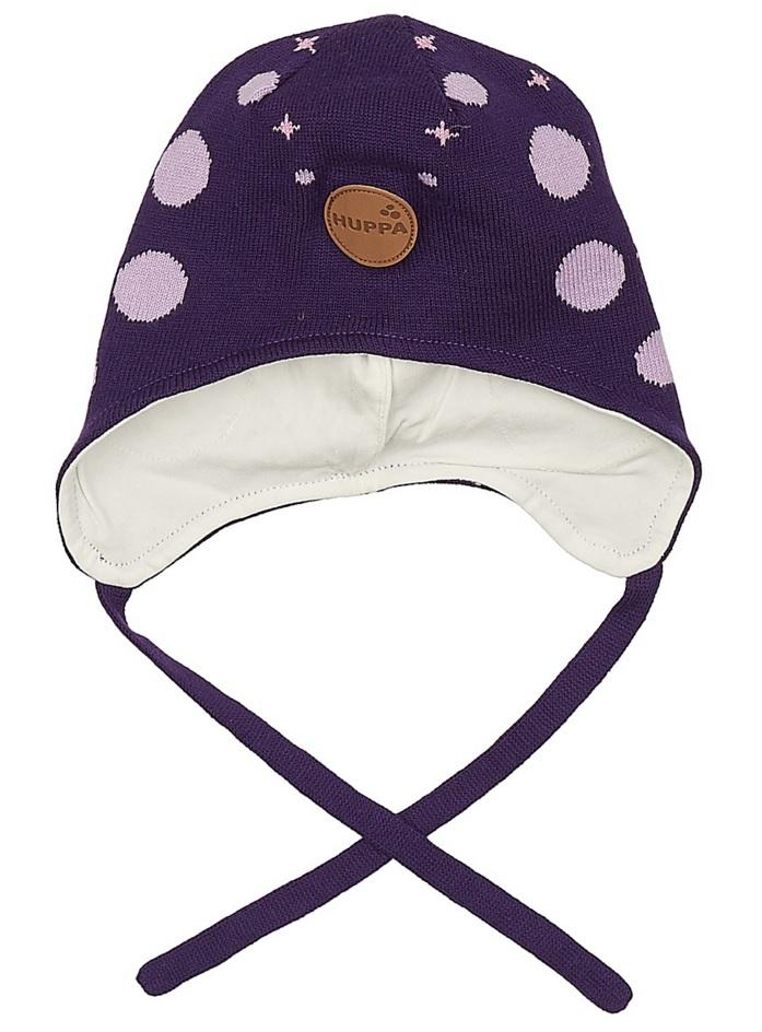 Шапка для девочки Huppa Silby, цвет: темно-лиловый. 83710000-70073. Размер XS (43/45) брюки утепленные huppa huppa hu009egvuh82