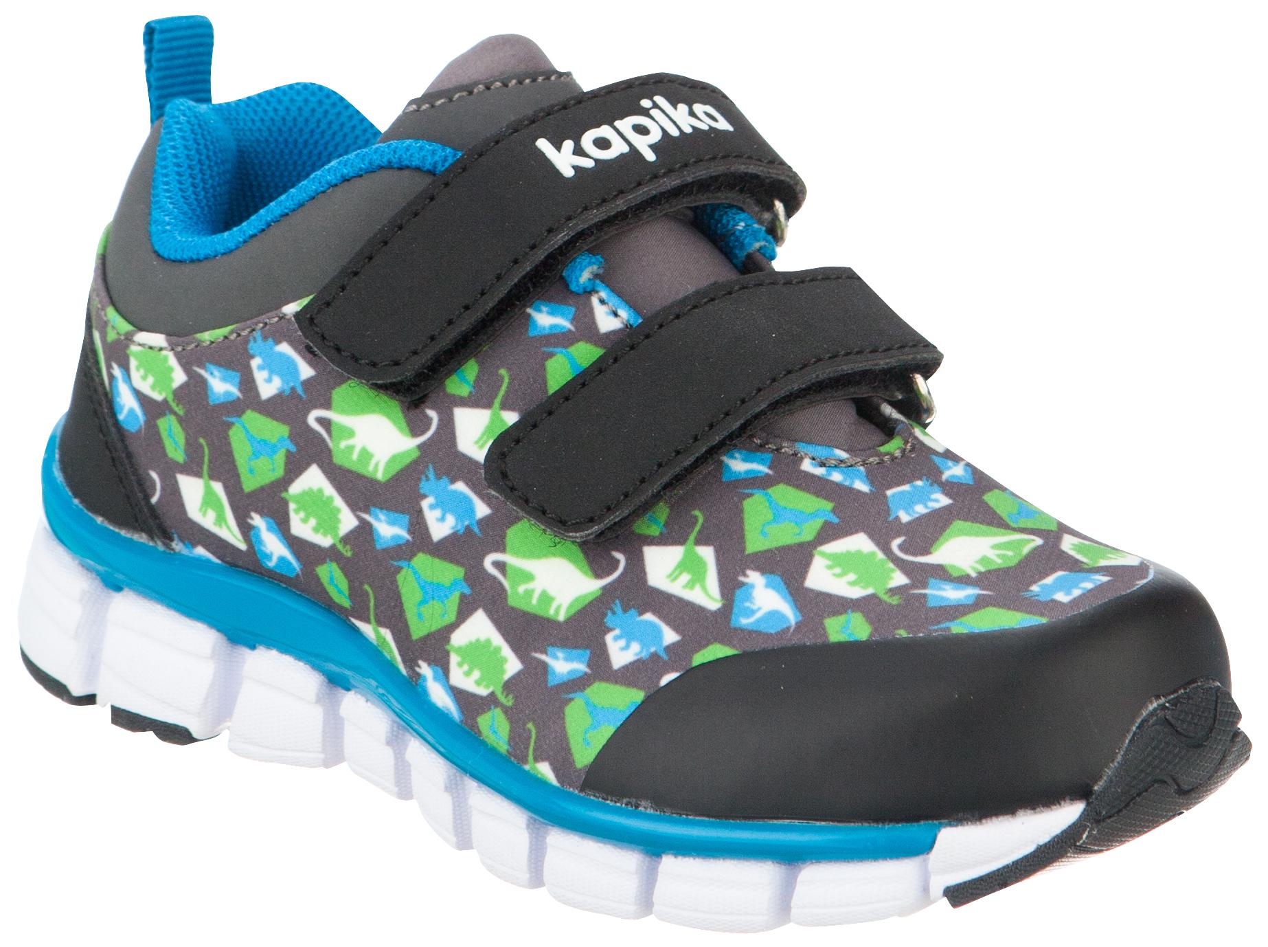 Кроссовки для мальчика Kapika, цвет: серый, черный, салатовый. 71069с-2. Размер 2171069с-2Модные кроссовки для мальчика от Kapika выполнены из текстиля и искусственной кожи. Подкладка из текстиля не натирает. Стелька из натуральной кожи комфортна при движении. Ремешки с застежками-липучками надежно зафиксируют модель на ноге. Подошва дополнена рифлением.
