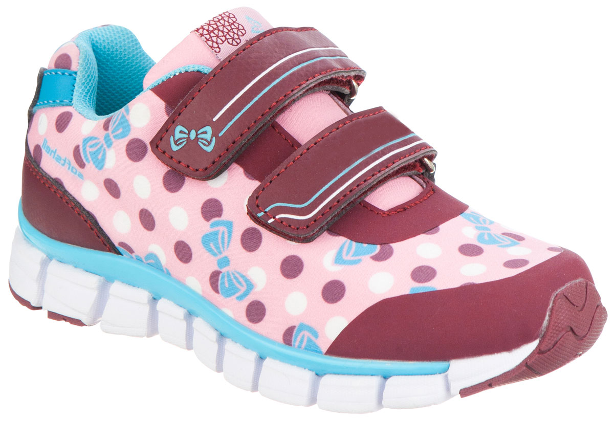 Кроссовки для девочки Kapika, цвет: бордовый. 72185с-2. Размер 2972185с-2Удобные и стильные кроссовки для девочки Kapika прекрасно подойдут вашему ребенку для активного отдыха и повседневной носки. Верх модели выполнен из искусственной кожи и текстиля. Стелька изготовлена из натуральной кожи, благодаря чему обувь дышит, что обеспечивает идеальный микроклимат. Для удобства обувания и надежной фиксации стопы на подъеме имеются два ремешка на липучках. Рельефная подошва не скользит и обеспечивает хорошее сцепление с поверхностью. Кроссовки оформлены принтом и логотипом бренда. В такой обуви ногам вашего ребенка,будет комфортно и уютно!