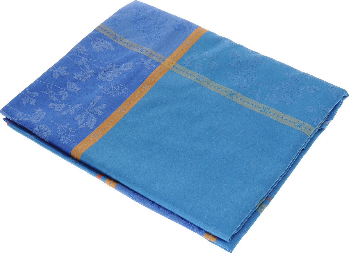 Скатерть Schaefer, овальная, цвет: синий, 160 x 220 см. 05760-43905760-439Овальная скатерть Schaefer, выполненная из полиэстера с оригинальным рисунком, станет изысканным украшением кухонного стола. За текстилем из полиэстера очень легко ухаживать: он не мнется, не садится и быстро сохнет, легко стирается, более долговечен, чем текстиль из натуральных волокон.Использование такой скатерти сделает застолье торжественным, поднимет настроение гостей и приятно удивит их вашим изысканным вкусом. Также вы можете использовать эту скатерть для повседневной трапезы, превратив каждый прием пищи в волшебный праздник и веселье. Это текстильное изделие станет изысканным украшением вашего дома!