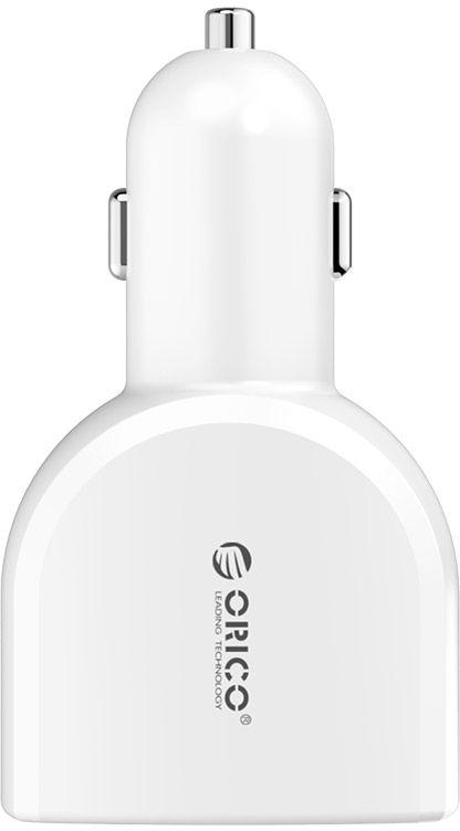 Устройство зарядное автомобильное Orico UCA-4U, 4 USB порта (2-5V2.4A, 2-5V1A), цвет: белыйUCA-4UOrico UCA-4Uс 4 USB-портами, позволит одновременно подзаряжать сразу четыре устройства. Пока вы находитесь в машине, зарядное устройство, предоставит возможность проигрывать сколько угодно музыкальных треков и поддерживать заряд батарей гаджетов в режиме ожидания не только вам, но и вашим пассажирам. USB-порты являются универсальными, поэтому вы сможете заряжать любое совместимое устройство через USB кабель (приобретается отдельно): смартфон, сотовый телефон, электронную книгу, планшетный компьютер, плеер и многое другое. Система безопасности гарантирует полную защиту подключенных устройств от короткого замыкания и скачков напряжения, тем самым делая процесс подзарядки действительно качественным и безопасным. Корпус устройства изготовлен из жароустойчивого, антикоррозионного и нетоксичного материала, в то время как контакты выполнены из медно-никелевого сплава, характеризующегося сильной проводимостью и устойчивостью к износу.