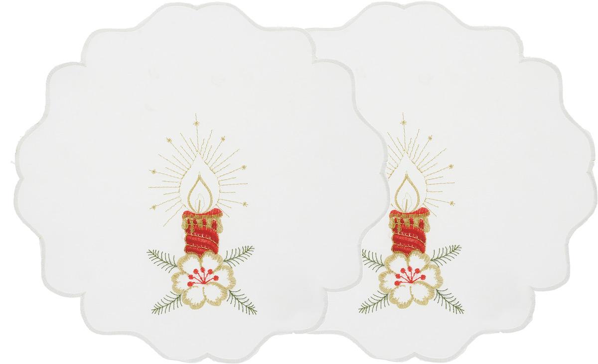 """Набор """"Schaefer"""", состоящий из двух салфеток, выполнен из полиэстера и оформлен вышивкой. Дизайнерские идеи немецких художников компании """"Schaefer"""" воплощаются в текстильных изделиях, которые сделают ваш дом красивее и уютнее и не останутся незамеченными вашими гостями. Дарите себе и близким красоту каждый день!Диаметр салфетки: 30 см."""