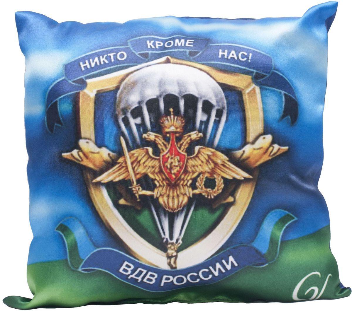 Подушка декоративная Главдор GL-523. ВДВ, с рисунком, 30х30 смGL-523Декоративные подушки c апликацией в салон автомобиля.