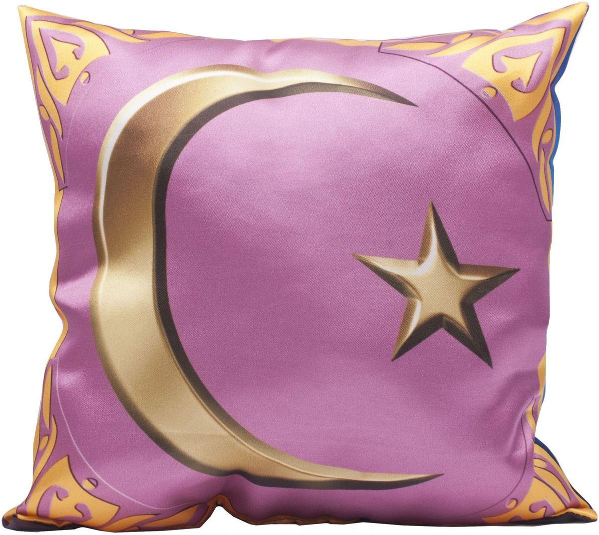 Подушка декоративная Главдор GL-529. Полумесяц с мечетью, с рисунком, 30х30 смGL-529Декоративные подушки c апликацией в салон автомобиля.