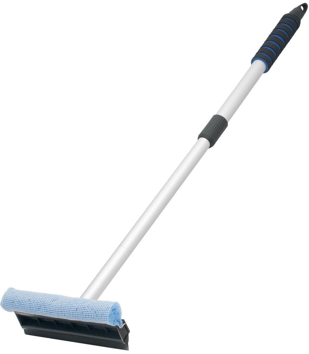 Водосгон Главдор, с телескопической ручкой, цвет: голубойGL-563Алюминиевый водосгон Главдор с удобным держателем из пенополиэтилена, снабжен резиновым скребком и поролоновой губкой для эффективной очистки загрязненных поверхностей.Длина телескопической ручки: 55 - 85см.