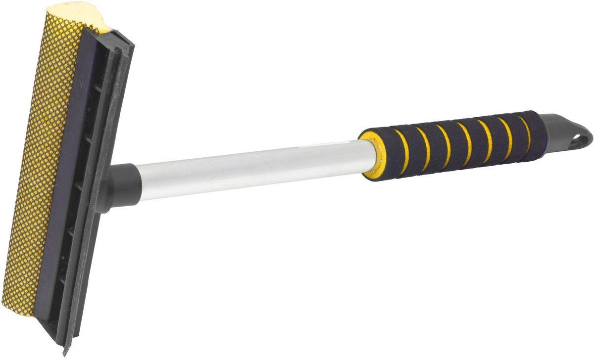 Водосгон Главдор GL-567, на алюминиевой ручке, длина: 43 см, цвет: желтыйGL-567Водосгон на алюминиевой ручке сдержателем из пенополиэтилена. Снабжен резиновым лезвием и поролоновой губкой для эффективной очистки загрязненных поверхностей.