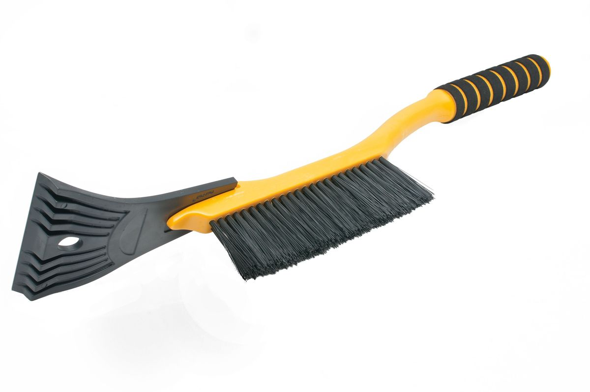 Щетка для снега Главдор GL-598, со скребком, длина: 54 см, поролоновая ручка, цвет: оранжевыйGL-598Компактная щетка с упругой, однорядной, полимерной щетиной и скребком с разрыхлителем. Снабжена мягкой ручкой из пенополиэтилена.